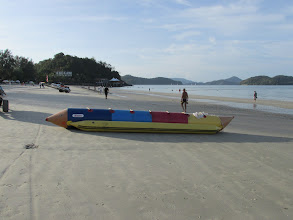 Photo: The ubiqitious 'banana boat' ; usually too lotsa paragliders about