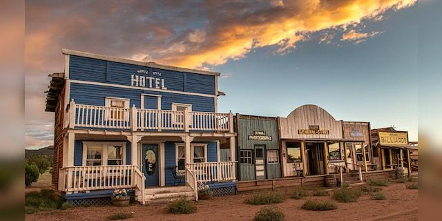 The Town of Gabriella near the Datil Mountains in New Mexico can be yours for $1.6 million.