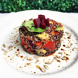 Black Quinoa Salad (vegan)