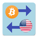 Bitcoin x United States Dollar icon