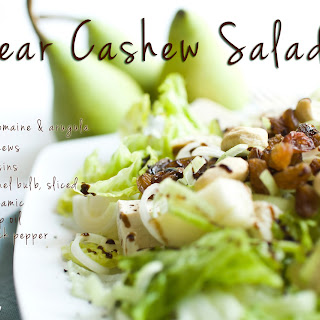 Pear Cashew Salad Recipe (vegan)