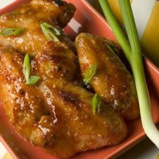 Ginger Orange Glazed Chicken Wings