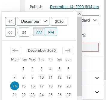 Scheduling WordPress post