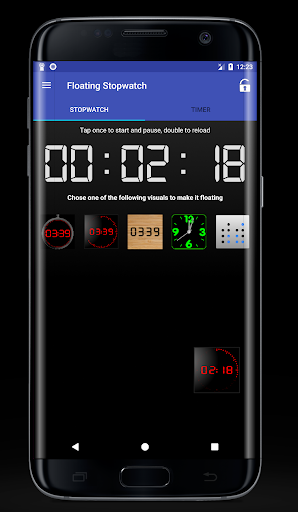 Floating Stopwatch & Timer 7.5 screenshots 1