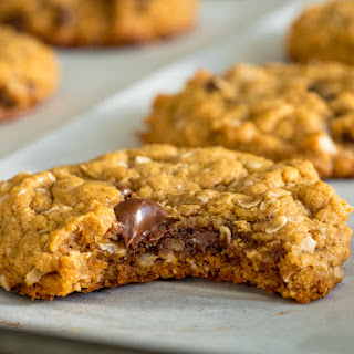 Peanut Butter Chocolate Chip Oat Cookies.
