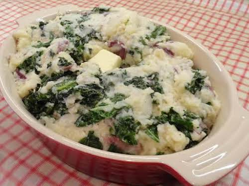 "Traditional Irish Colcannon""Regional varieties of colcannon include using cabbage instead of kale..."