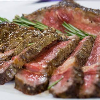 Pepper-crusted Ribeye With Bacon And Blue Cheese Butter.