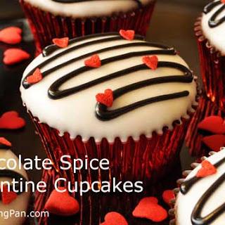 Chocolate Spice Valentine Cupcakes