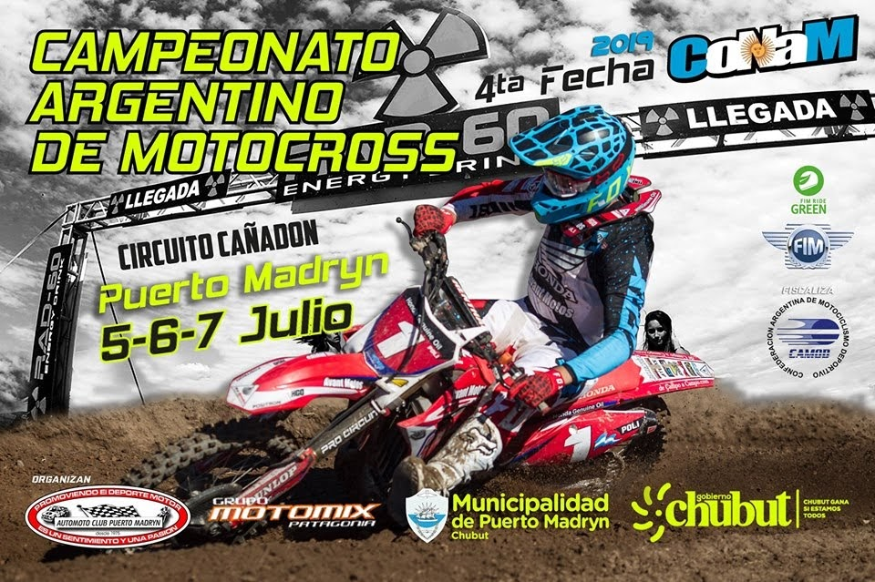 No te pierdas el Argentino de Motocross en Puerto Madryn