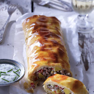 Beef and Potato Strudel.