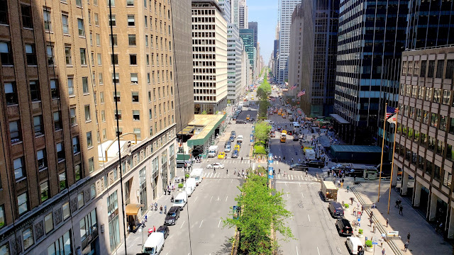 Office view over Park Avenue
