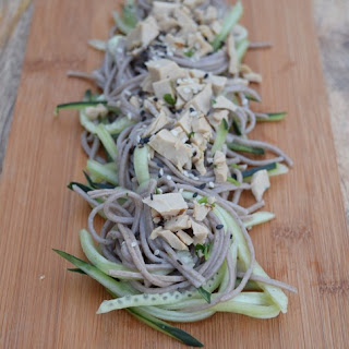 Cucumber and Soba Noodles with Ginger Dressing