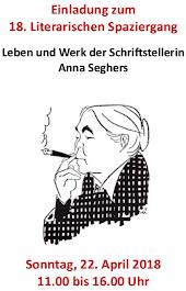 Einladung mit Grafik Anna Seghers.