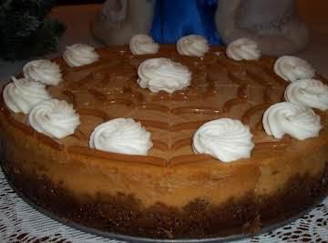 Dulce de Leche Pumpkin Swirled Cheesecake