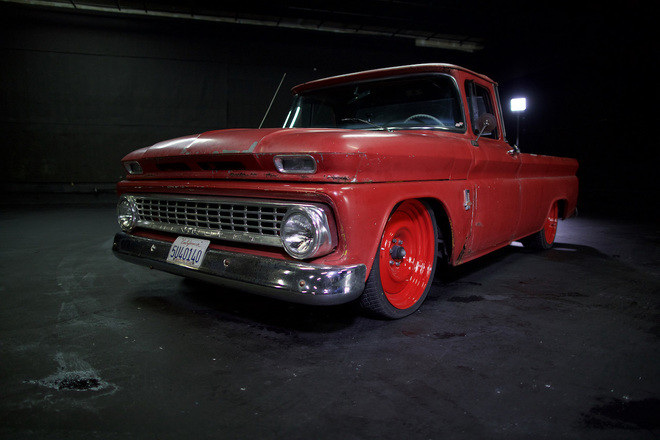 """1963 C10 Long Bed """"Big Red"""" Hire 2100 NW 42nd Ave"""