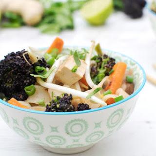 Purple Sprouting Broccoli & Shiitake Rice Noodles [flexitarian]
