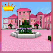 Pink Princess House Maps for MCPE