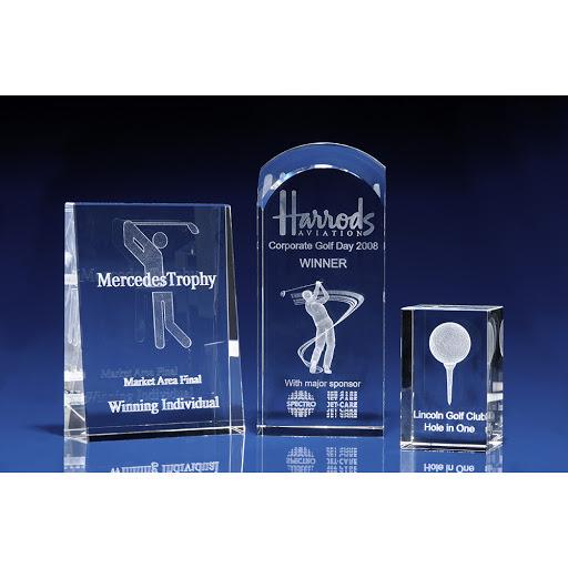 3D Crystal Glass Golf Awards