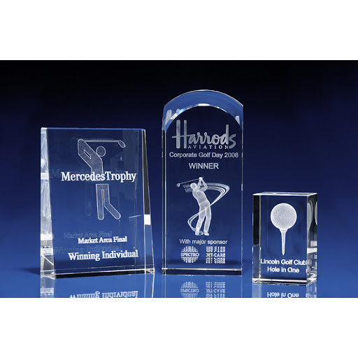 3D Crystal Glass Golf Awards