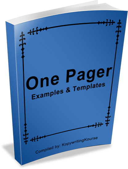 how to write a one pager with templates and examples kopywriting