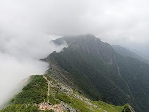 スバリ岳方面