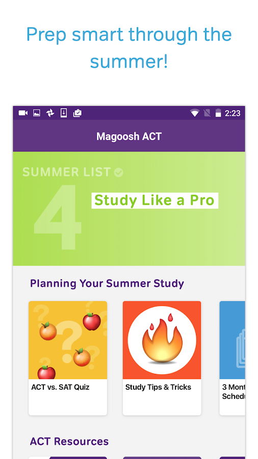 ACT Test Prep, Practice, and Flashcards- screenshot