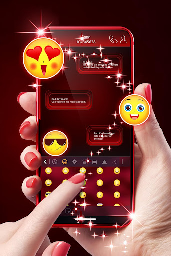 Red Keyboard For Android 1.288.18.28 screenshots 2