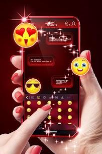 Teclado rojo para Android