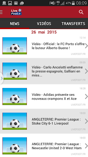 Live foot actualité en direct