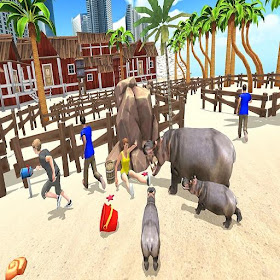 Hippo Family Simulator - Beach & City Attack 2019 – (Android