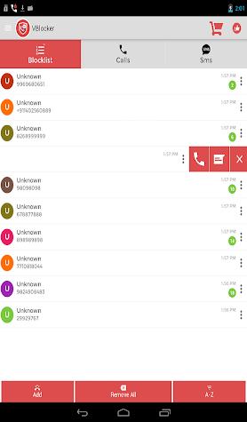 VBlocker: Call and SMS Blocker Screenshot
