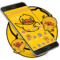 Cartoon yellow cute duck theme, Butterfly Icon icon
