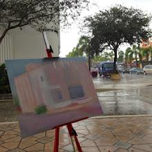 Photo: Painting in progress by Cat Albert 12-05-13