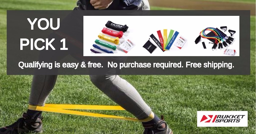 You choose 1 - Pure Training item from Rukket.  Choose from various training items such as elastic bands, mini bands, and more.  No purchase required!  Shipping is free.