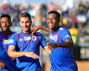 Thamsanqa Gabuza (R) scored two goals in his last match for Supersport United - a crushing 3-0 MTN8 quarterfinal win over Bidvest Wits at the weekend. He will be a danger for Kaizer Chiefs.
