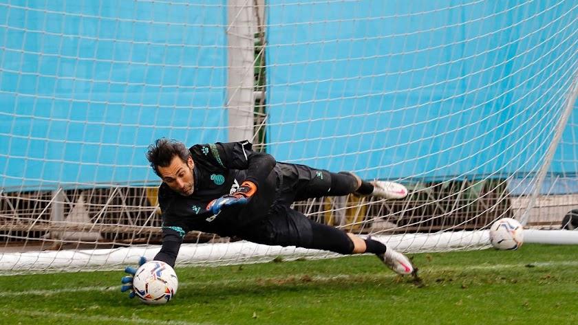 Diego López está muy centrado en el próximo rival, el Leganés.