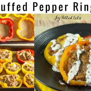 Taco Stuffed Pepper Rings – Low Carb, THM S