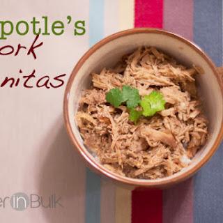 Chipotle's Pork Carnitas Copycat Recipe {Crock Pot}