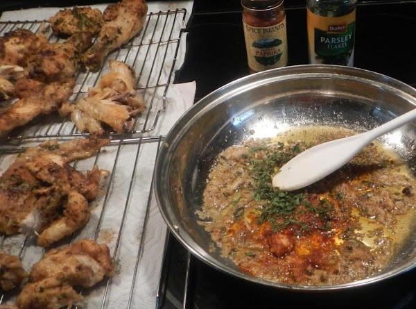 Take the juices from the bottom  of the crock-pot and put in a skillet... sprinkle...