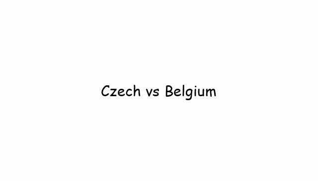 Czech vs Belgium