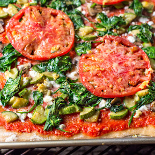 Grilled Veggie Pizza with Easy Homemade Tomato Sauce Recipe