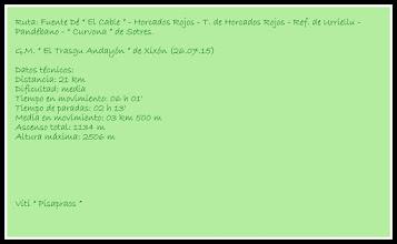 Photo: Datos técnicos de mi ruta.