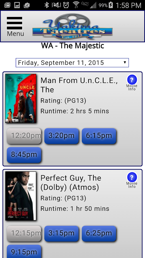 Yakima Theaters- screenshot