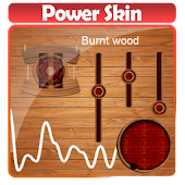 Burnt wood Poweramp Skin
