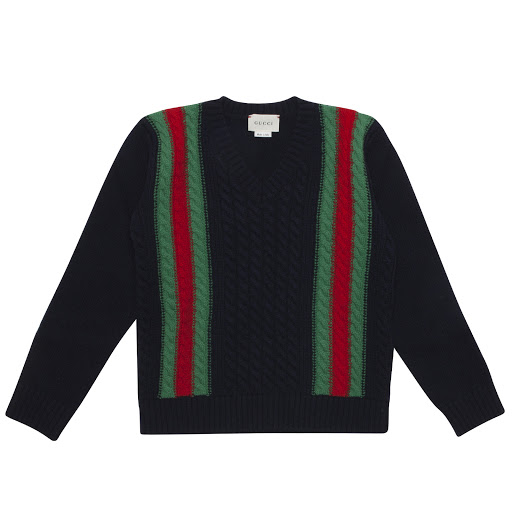 Primary image of Gucci Navy Wool Knit Jumper