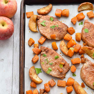 Sheet Pan Brown Sugar Pork Chops.
