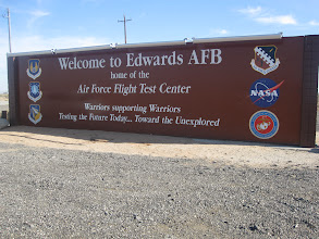 Photo: Named for USAF test pilot Glen Edwards, who died over the area in 1948 while testing the YB-49 Flying Wing.