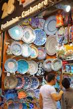 Photo: Plates for sale in the Spice Bazaar