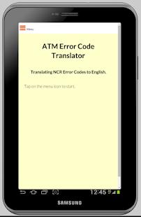 ATM Error Code Translator- NCR screenshot