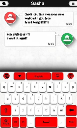 Red and White Keyboard